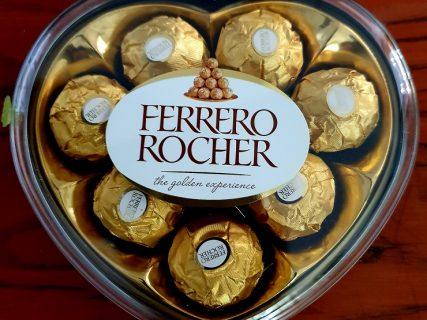 """шоколадное сердце """"Ферреро Роше"""""""